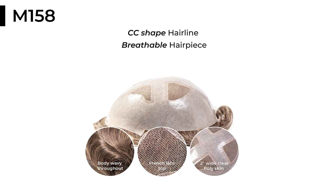 French lace thin skin hair system